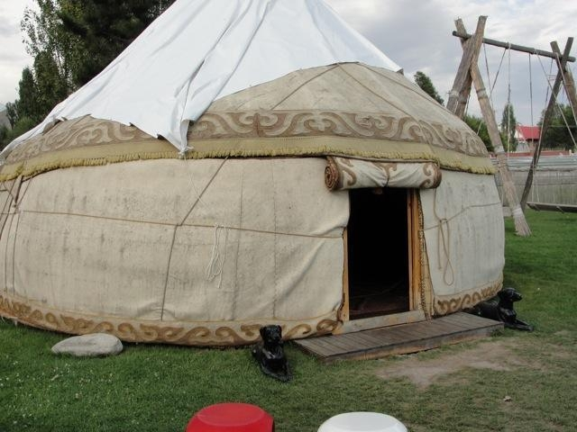 Een traditionele Joert (tent).